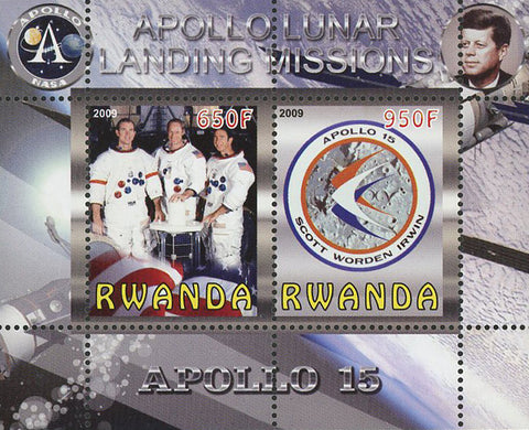 Apollo Lunar Landing Missions Souvenir Sheet of 2 Stamps Mint NH