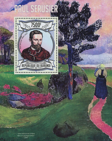 Paul Serusier Painter Art Famous Souvenir Sheet Mint NH