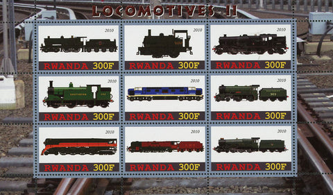 Locomotive Transportation Souvenir Sheet of 9 Stamps Mint NH