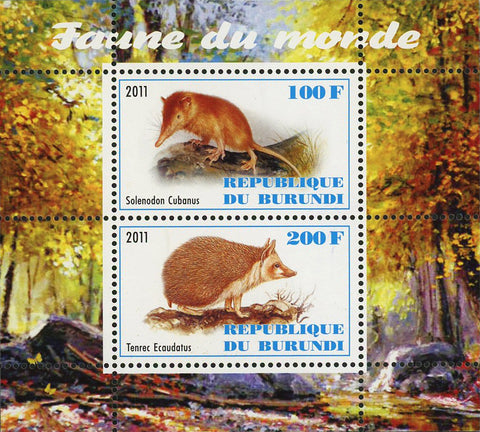 Fauna Of The World Solenodon Souvenir Sheet of 2 Stamps Mint NH