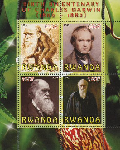Birth Bicentenary Of Charles Darwin Souvenir Sheet of 4 Stamps Mint NH