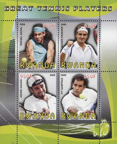 Great Tennis Player Sport Souvenir Sheet of 4 Stamps Mint NH