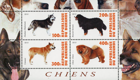 Dog Pet Domestic Animal Chow Chow Souvenir Sheet of 4 Stamps Mint NH