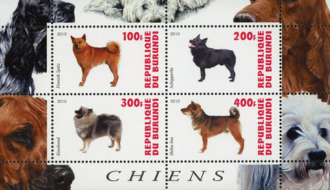 Dog Pet Domestic Animal Keeshond Souvenir Sheet of 4 Stamps Mint NH