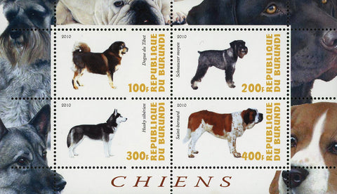 Dog Pet Domestic Animal Husky Souvenir Sheet of 4 Stamps Mint NH