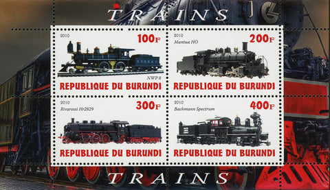 Train Transportartion Mantua HO Souvenir Sheet of 4 Stamps Mint NH