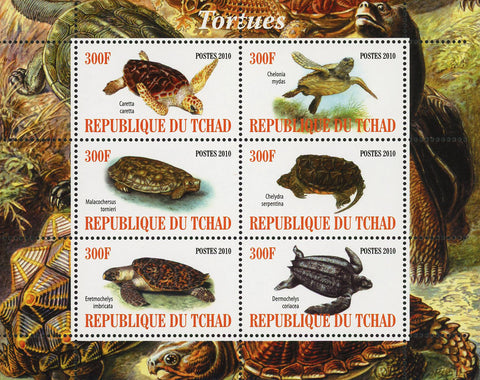 Turtle Marine Fauna Ocean Life Souvenir Sheet of 6 Stamps Mint NH