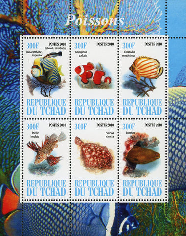 Fish Ocean Life Marine Fauna Souvenir Sheet of 6 Stamps Mint NH
