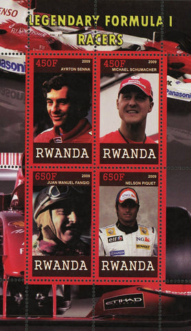 Legendary Formula 1 F1 Racers Sport Souvenir Sheet of 4 Stamps Mint NH