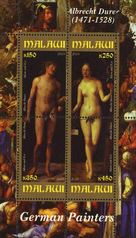 Malawi German Painter Albrecht Durer Art Souvenir Sheet of 4 Stamps Mint NH