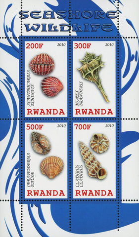 Seashore Wildlife Seashell Marine Life Souvenir Sheet of 4 Stamps Mint NH