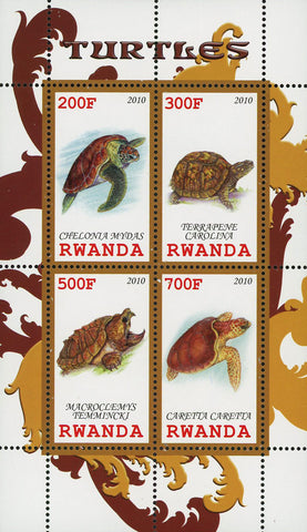 Turtle Ocean Fauna Marine Life Souvenir Sheet of 4 Stamps Mint NH