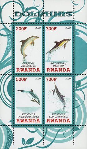 Dolphin Ocean Fauna Marine Life Souvenir Sheet of 4 Stamps Mint NH
