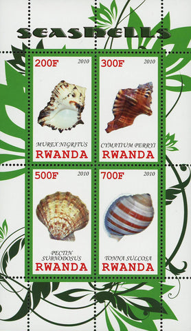 Seashell Ocean Fauna Souvenir Sheet of 4 Stamps Mint NH