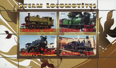 Steam Locomotives Transportation Souvenir Sheet of 4 Stamps Mint NH