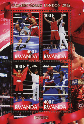 Boxing Sport Olympic Games London 2012 Souvenir Sheet of 4 Stamps Mint NH