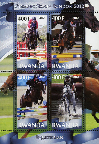 Equestrian Sport Olympic Games London 2012 Souvenir Sheet of 4 Stamps MNH