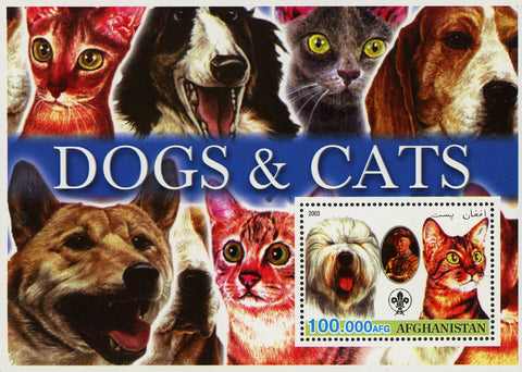 Dogs and Cats Pet Domestic Animal Souvenir Sheet Mint NH