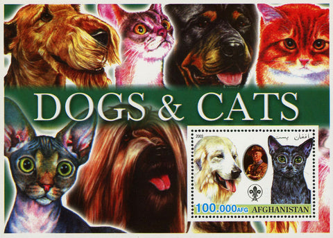 Cats and Dogs Pet Domestic Animal Souvenir Sheet Mint NH
