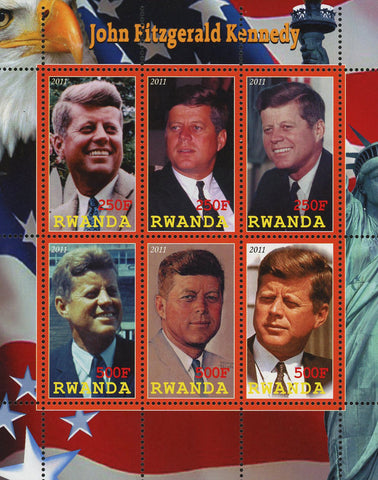 John Fitzgerald Kennedy President USA Souvenir Sheet of 6 Stamps Mint NH