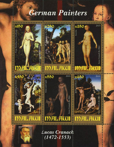 Malawi Art German Painter Lucas Cranach Souvenir Sheet 6 Stamps MNH