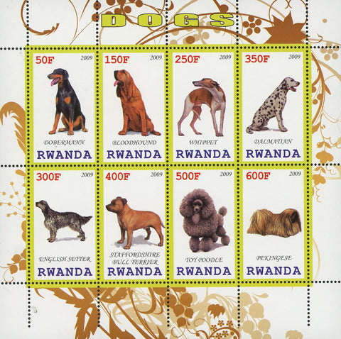 Dog Pet Domestic Animal Dalmatian Souvenir Sheet of 8 Stamps MNH