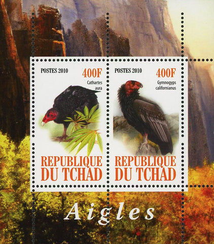 Malawi Eagle Cathartes Aura Bird Souvenir Sheet of 2 Stamps Mint NH