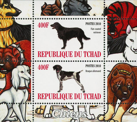 Chad Dog Pet Domestic Animal Retriever Souvenir Sheet of 2 Stamps Mint NH