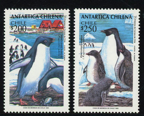 Chile Stamp Chilean Antarctic Penguin Adelie Set of 2 Stamps MNH