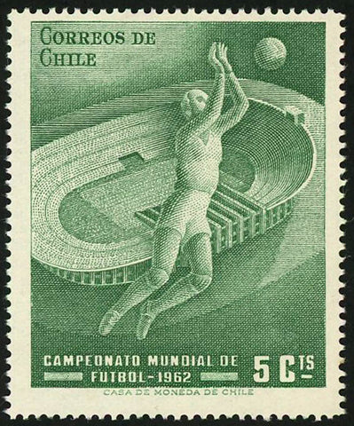 Chile Stamp World Cup Soccer Championship Futbol 1962 Sport Individual MNH