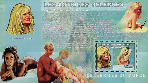 Brigitte Bardot Actress Singer Famous People Souvenir Sheet Mint NH