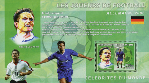 Football Soccer Player Frank Lampard Sport Souvenir Sheet Mint NH