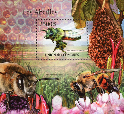 Bee Insect Apis Mellifera Scutellata Souvenir  Sheet Mint NH