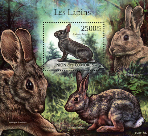 Rabbit Wild Animal Sylvilagus Floridanus Souvenir Sheet Mint NH