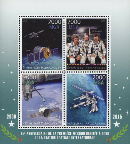 Madagaskar First Mission International Spatial Station Astronaut Souvenir Sheet