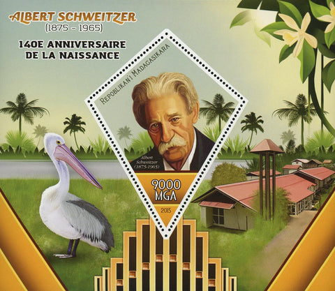Albert Scheweitzer Humanitarian Philosopher Souvenir Sheet Mint NH