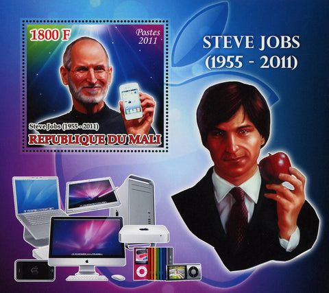 Steve Jobs Apple Famous People Souvenir Sheet Mint NH
