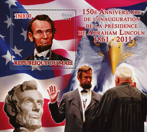 World Presidential Anniversary Abraham Lincoln USA Souvenir Sheet Mint NH