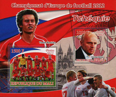 Soccer European Championship Czech Republic Tomas Rosicky Sov. Sheet of 2 M
