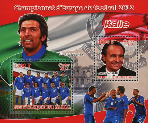 Soccer European Championship 2012 Italy Glanluigi Buffon Sov. Sheet of 2 MN