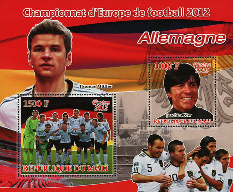 Soccer European Championship 2012 Germany Thomas Muller Sov. Sheet of 2 MNH