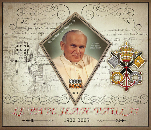 John Paul II Pope Religion Sov. Sheet MNH