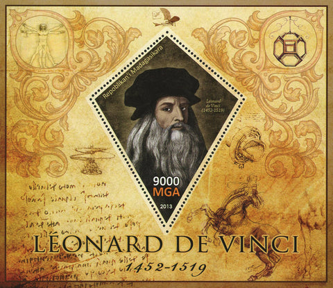 Leonardo Da Vinci Painting Art Souvenir Sheet Mint NH