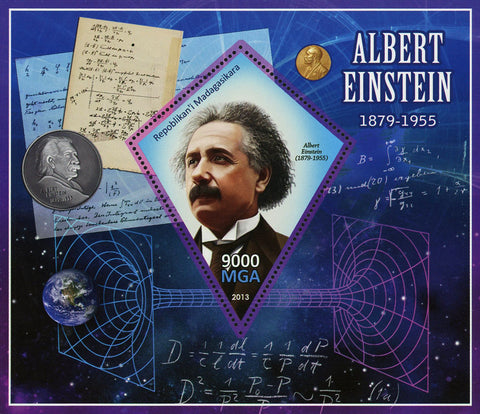 Albert Einstein Science Historical Figure Souvenir Sheet Mint NH