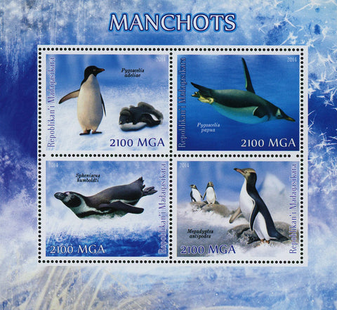 Penguin Ocean Marine Fauna Souvenir Sheet of 4 Stamps Mint NH