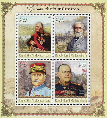 Madagascar Top Military Chefs Souvenir Sheet of 4 Stamps Mint NH
