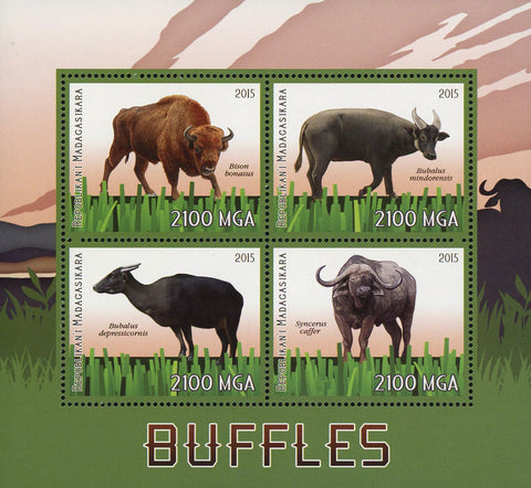 Bull Wild Animal Souvenir Sheet of 4 Stamps Mint NH