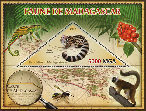 Fauna Wild Animal Fossa Fossana Souvenir Sheet Mint NH