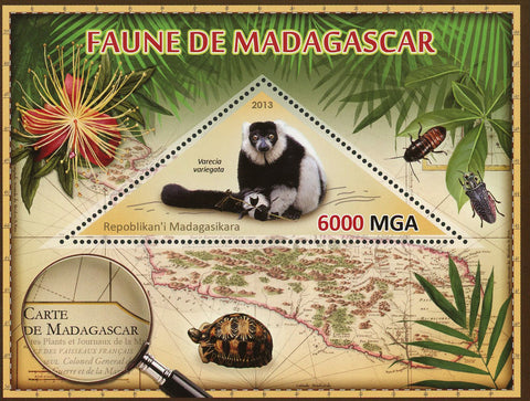 Fauna Wild Animal Varecia Variegata Souvenir Sheet Mint NH