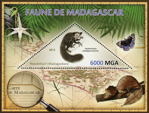 Fauna Wild Animal Daubentonia Madagascariensis Souvenir Sheet Mint NH